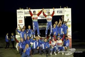 Rally winners Mikko Hirvonen and Jarmo Lehtinen