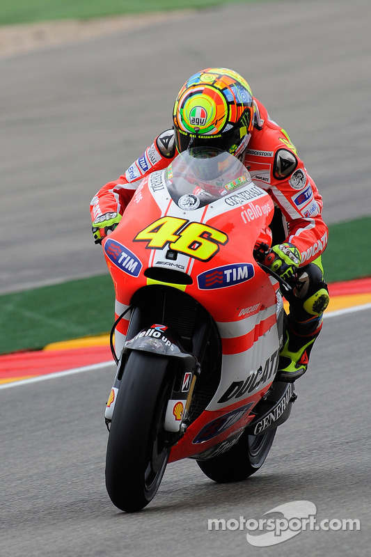 Valentino Rossi, Ducati Team at Aragon GP
