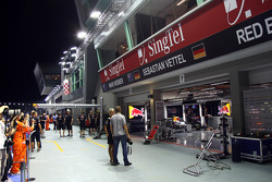 The Red Bull garage