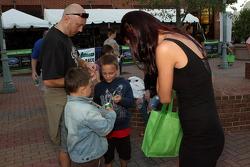 Petit Le Mans pre-race party: Road Atlanta girl handing out prizes