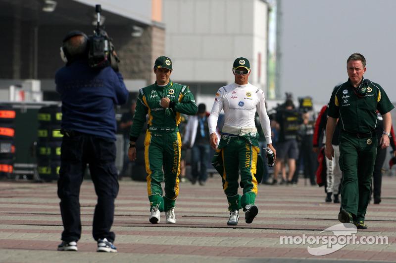 Jarno Trulli, Team Lotus and Heikki Kovalainen, Team Lotus