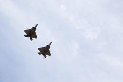 F-22 Raptors fly-over