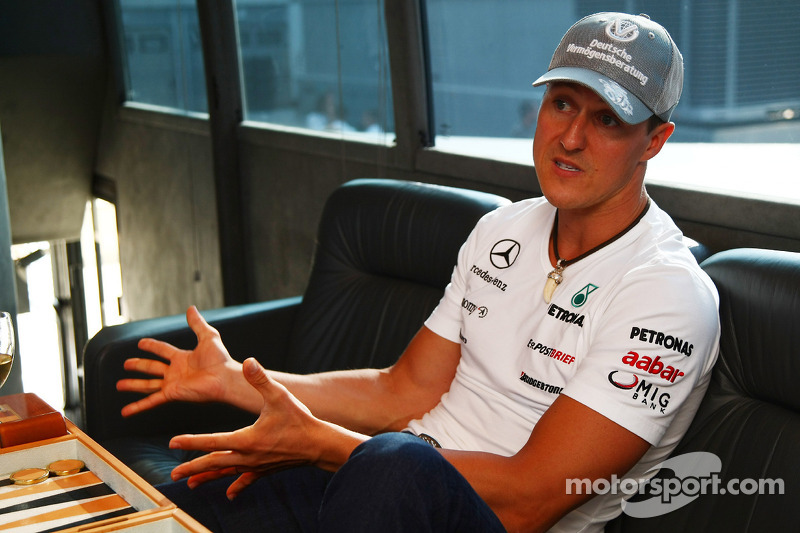 Bernie Ecclestone and Michael Schumacher, Mercedes GP Petronas interview
