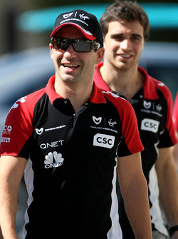 Timo Glock, Virgin Racing and Jerome d'Ambrosio, Virgin Racing