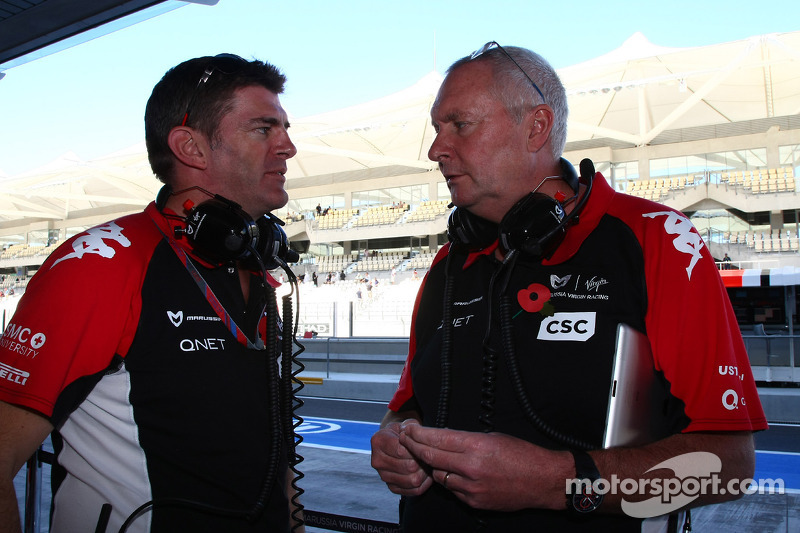 Graeme Lowden, Virgin Racing director of racing with John Booth