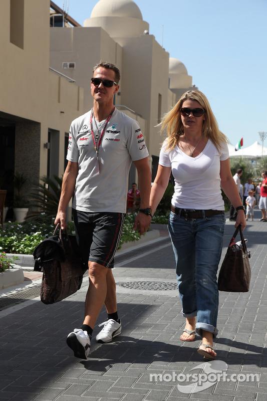 Michael Schumacher, Mercedes GP F1 Team and Corina Schumacher, Wife of Michael Schumacher, Mercedes