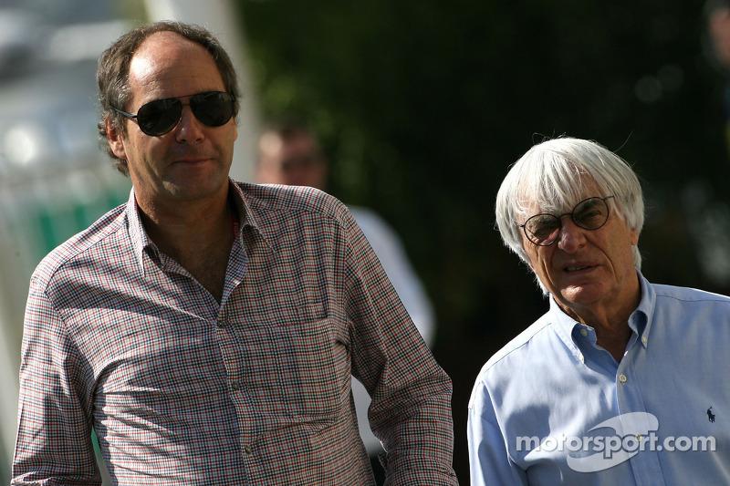 Gerhard Berger and Bernie Ecclestone