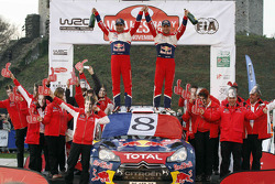 Sébastien Loeb and Daniel Elena, Citroën DS3 WRC, Citroën Total World Rally Team celebrate 8 WRC championships