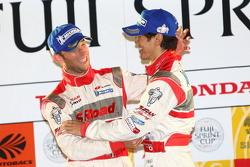 GT500 overall podium: first place Masataka Yanagida, Ronnie Quintarelli
