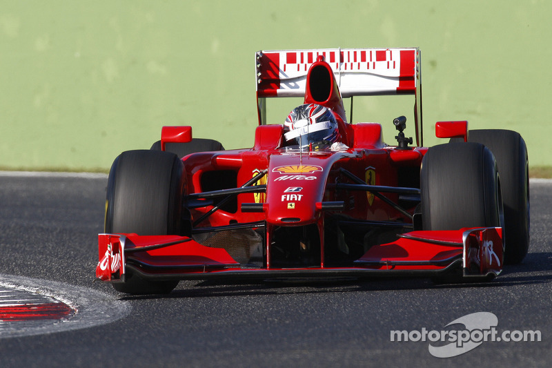 Michael Lewis tests a Ferrari F1