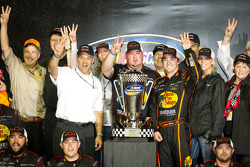 Championship podium: NASCAR Camping World Truck Series 2011 champion Austin Dillon, RCR Chevrolet celebrates