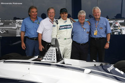 Nelson Piquet, Charlie Whiting, and Herbie Blash