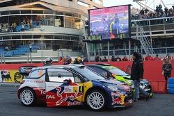 Sébastien Loeb and Severine Loeb with Valentino Rossi and Carlo Cassina