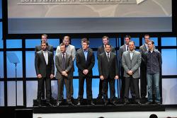 Tony Stewart, Carl Edwards, Kevin Harvick, Matt Kenseth, Brad Keselowski, Jimmie Johnson, Dale Earnhardt Jr., Jeff Gordon, Denny Hamlin, Ryan Newman, Kyle Busch and Kurt Busch