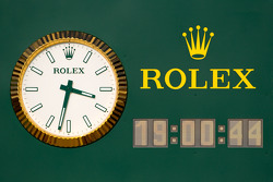The new Rolex clock on pitlane