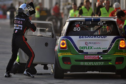 #80 Besaplast Racing Team BMW MINI: Franjo Kovac, Martin Tschornia, Cora Schumacher, Fredrik Lestrup, Stefanie Halm