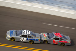 Dale Earnhardt Jr., Hendrick Motorsports Chevrolet and Jimmie Johnson, Hendrick Motorsports Chevrolet