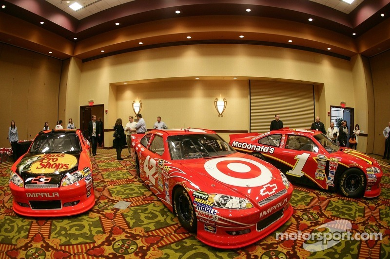 Car of Juan Pablo Montoya, Earnhardt Ganassi Racing Chevrolet