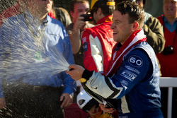 DP podium: A.J. Allmendinger celebrates