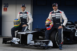 Bruno Senna, Williams F1 Team and Pastor Maldonado, Williams F1 Team