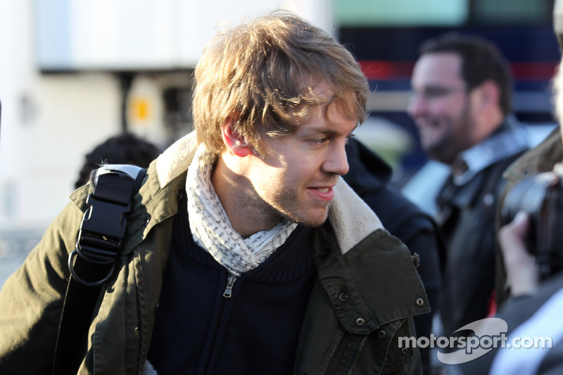 Sebastian Vettel, Red Bull Racing arriveert op het circuit