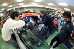 Hitotsuyama Racing Audi R8 LMS seat fitting for Cyndie Allemann