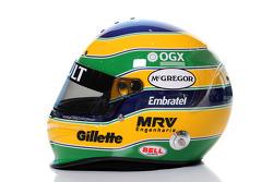 Bruno Senna, Williams F1 Team, kask
