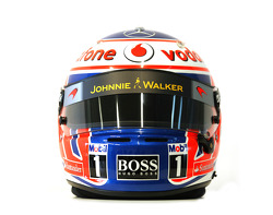 Jenson Button, McLaren Mercedes, kask