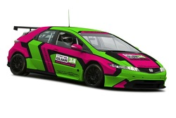 Tony Gilham unveils the livery for the Honda Civic