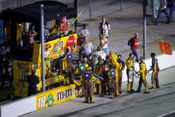 Joe Gibbs Racing team members celebrate the victory of Kyle Busch