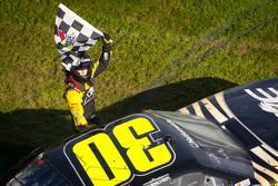 Race winner James Buescher, Turner Motorsports Chevrolet celebrates