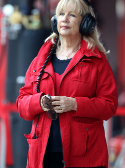 Simone, mother of Jenson Button, McLaren Mercedes
