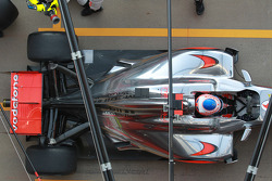 Jenson Button, McLaren Mercedes rear suspension and rear wing