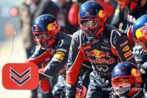Red Bull pit crew and mechanics