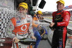 Podium: race winner Jamie Whincup and Garth Tander