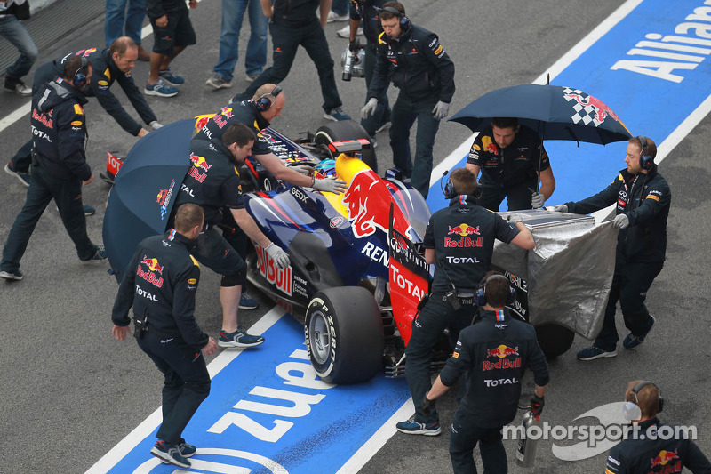 Sebastian Vettel, Red Bull Racing en de Red Bull mecaniciens