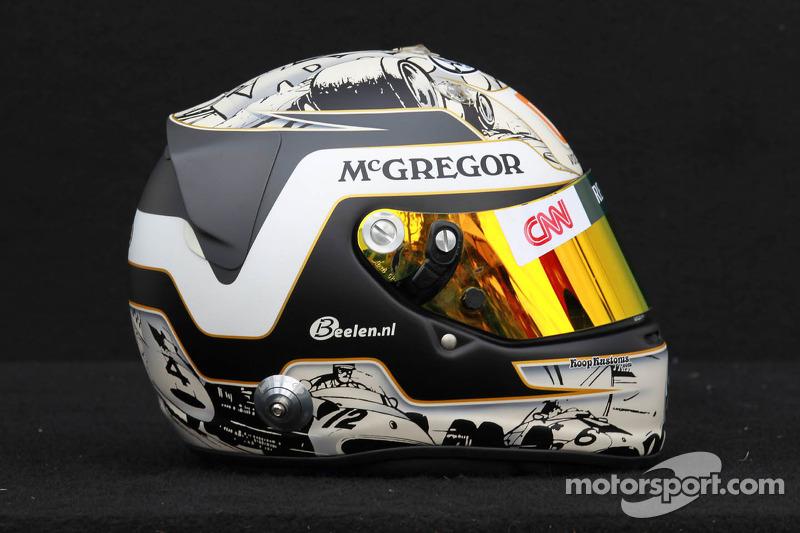 Giedo van der Garde, Caterham F1 Team testrijder helm