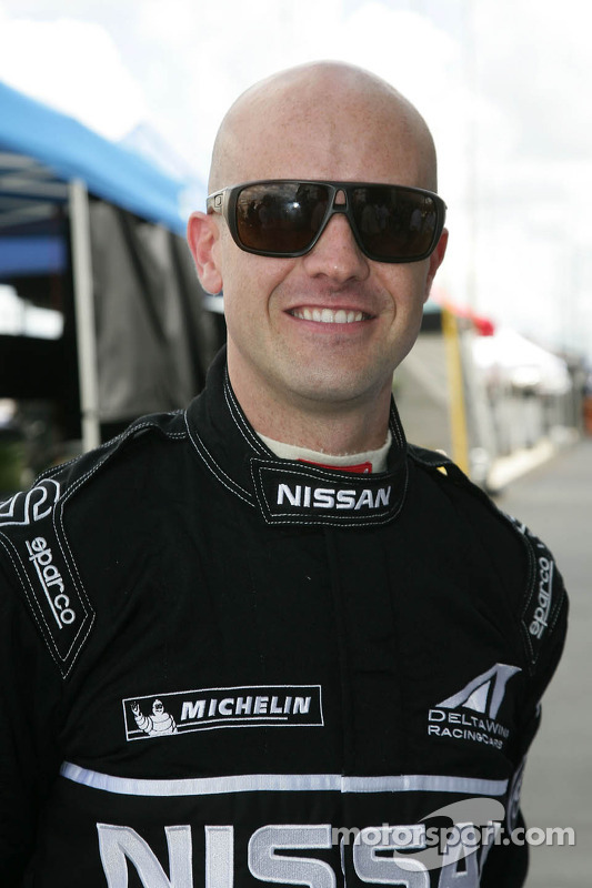 Marino Franchitti gets ready to drive the DeltaWing Nissan
