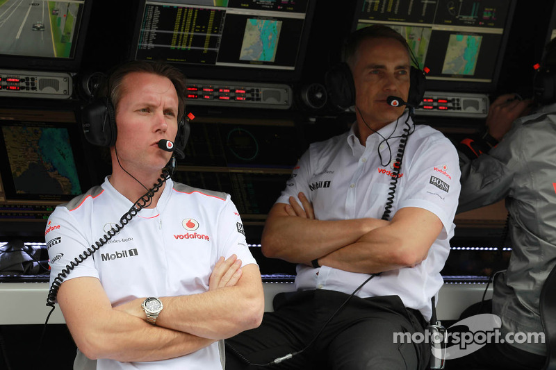 Sam Michael met Martin Whitmarsh, McLaren, Chief Executive Officer