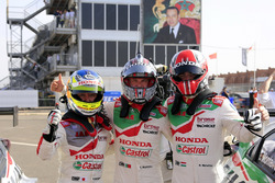 Ryo Michigami, Honda Racing Team JAS, Honda Civic WTCC , Tiago Monteiro, Honda Racing Team JAS, Honda Civic WTCC, Norbert Michelisz, Honda Racing Team JAS, Honda Civic WTCC