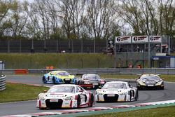 #9 Audi Sport racing academy, Audi R8 LMS: Elia Erhart, Christopher Höher; #8 Audi Sport racing academy, Audi R8 LMS: Mikaela Åhlin-Kottulinsky, Ricardo Feller