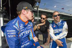 Tony Kanaan, Chip Ganassi Racing Honda, Dario Franchitti, and Tony Kanaan, Chip Ganassi Racing Honda