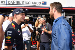 Max Verstappen, Red Bull Racing  y Chris Hemsworth, actor
