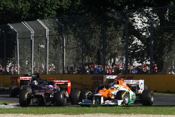 Daniel Ricciardo, Scuderia Toro Rosso and Paul di Resta, Sahara Force India Formula One Team