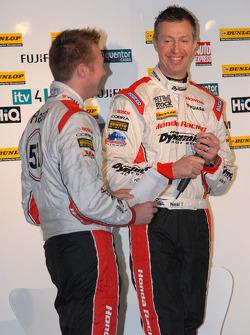 Honda Yuasa Racing Drivers Gordon Shedden and Matt Neal