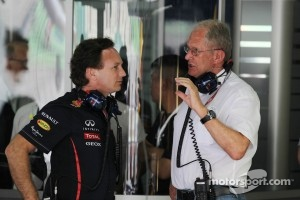 Christian Horner, Red Bull Racing Team Principal talks with Dr Helmut Marko, Red Bull Motorsport Consultant