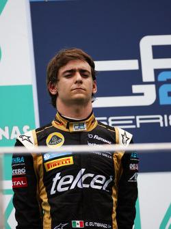 Podium: second place Esteban Gutierrez