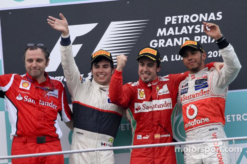 Fernando Alonso, 1º en el GP de Malasia 2012