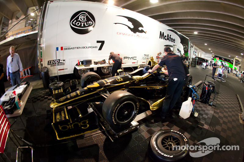Car of Sébastien Bourdais, Lotus Dragon Racing Lotus