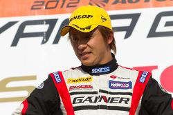 GT300 podium: class winner winner Katsuyuki Hiranaka